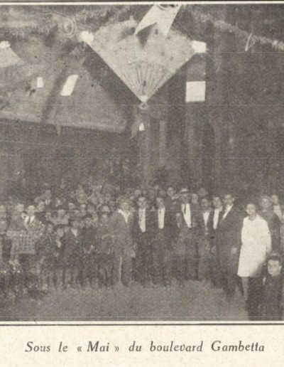 Le mai de la Place du boulevard Gambetta en 1926
