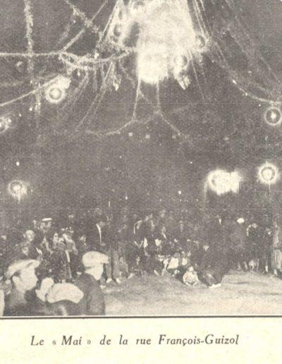 Le mai de la rue François Guisol en 1926 illuminé