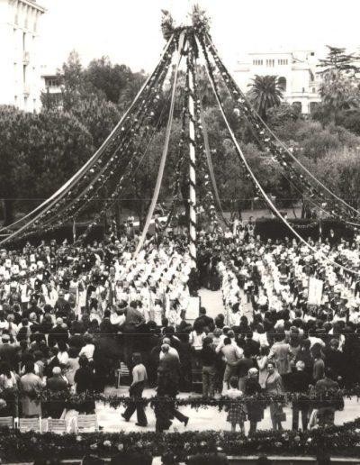 1970 : le mât aux Arènes de Cimiez