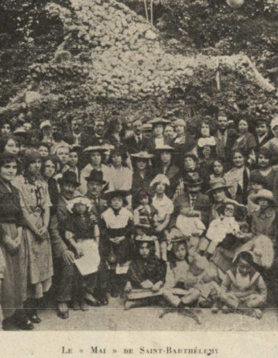 Le mai de Saint-Barthélemy en 1921