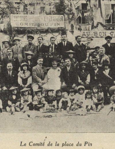 Le comité de la place du Pin en 1926
