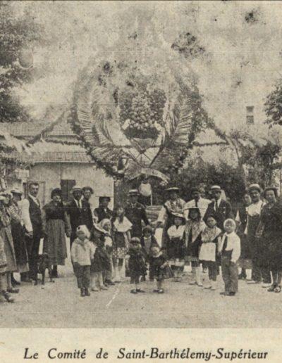 Le comité de Saint-Barthélemy supérieur en 1926