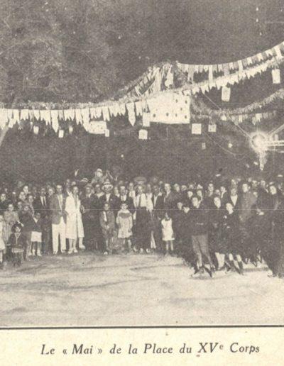 Le mai de la Place du Xve Corps en 1926