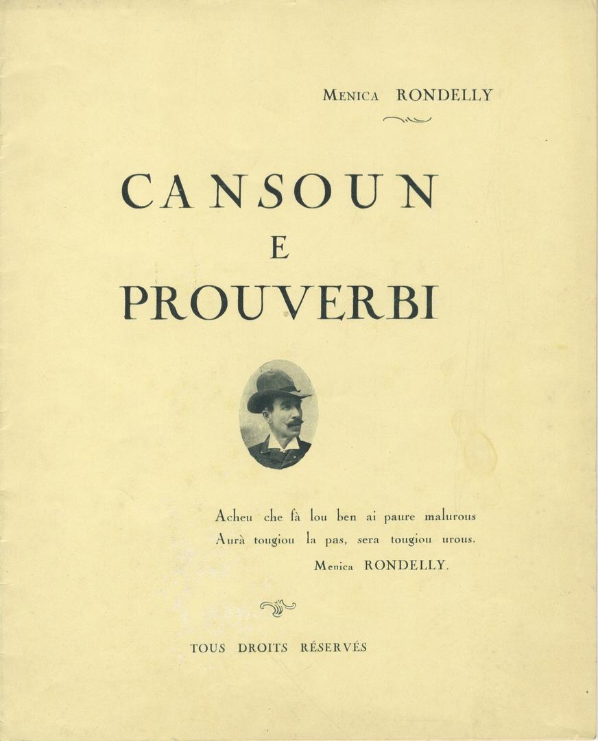 Chansons et proverbes par Menica Rondelly (Archives Nice Côte d'Azur, fonds Montelatici)
