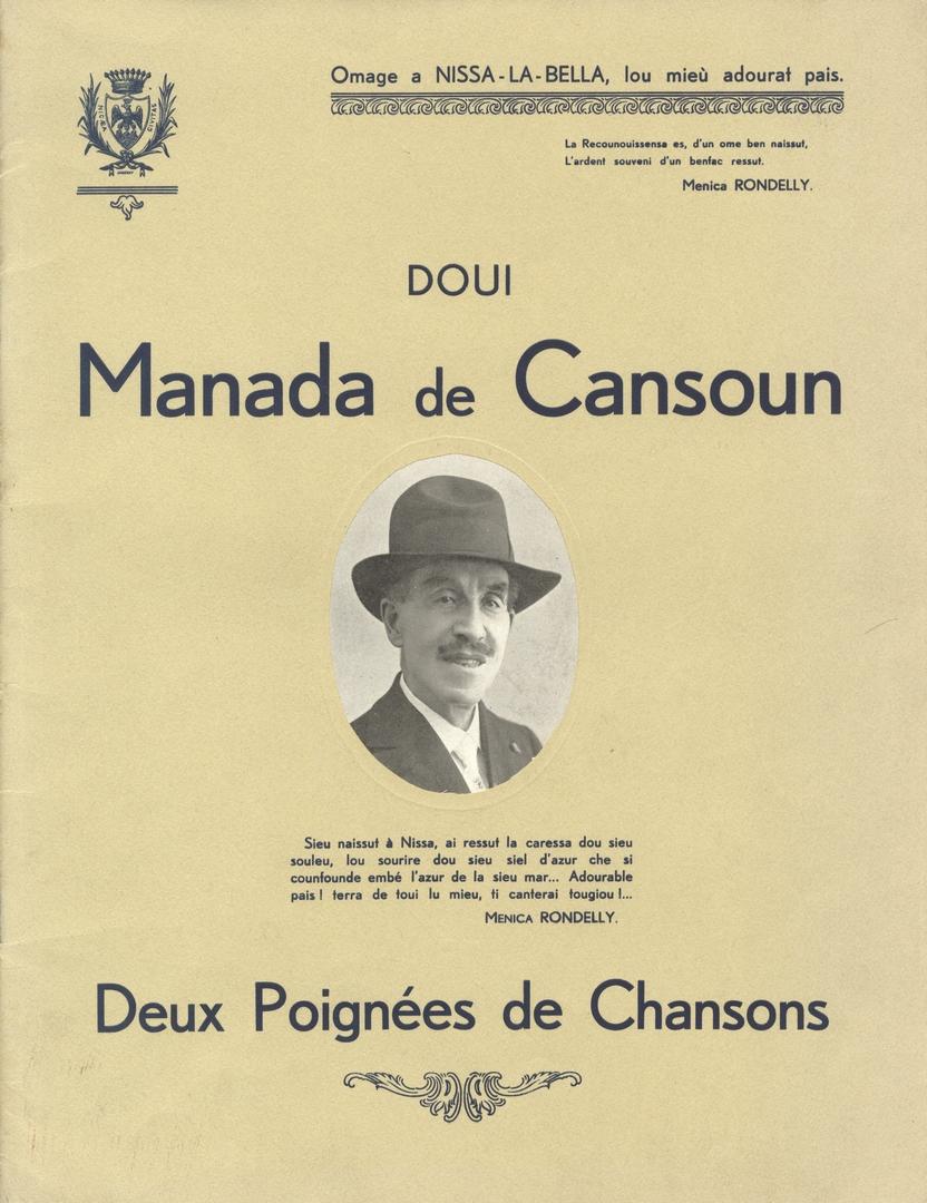 Deux poignées de chansons par Menica Rondelly (Archives Nice Côte d'Azur, fonds Montelatici)