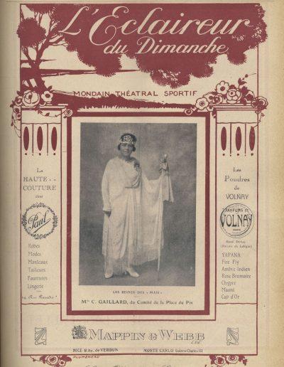 Mlle Gaillard, candidate du comité de la place du Pin, mai 1922 (Eclaireur du Dimanche)