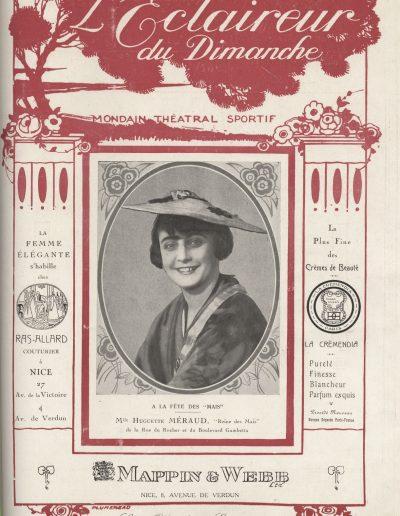 Mlle Méraud, candidate de la rue du Rocher et du boulevard Gambetta, juin 1926 (Eclaireur du Dimanche)