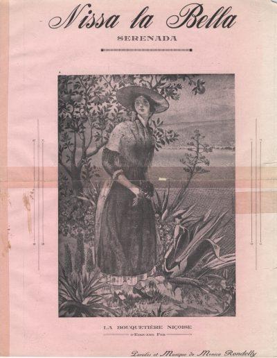Nissa la Bella, sérénade par Menica Rondelly (Archives Nice Côte d'Azur, fonds Montelatici)