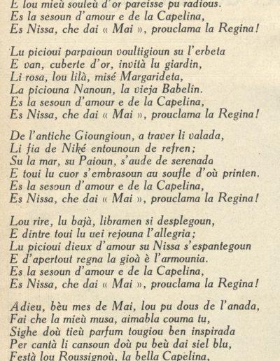 Regina de Mai, poème de Menica Rondelly, 1922 (Eclaireur du dimanche)