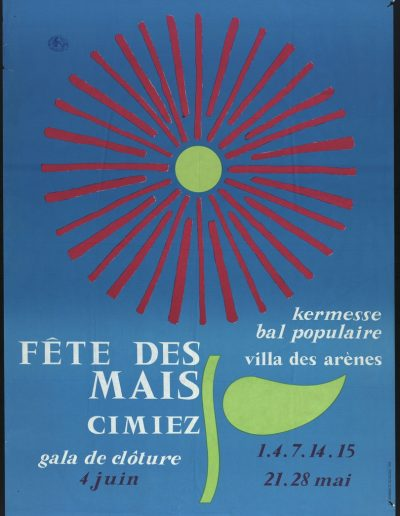 1967 : affiche officielle (Archives Nice Côte d'Azur, 7 Fi 1023)