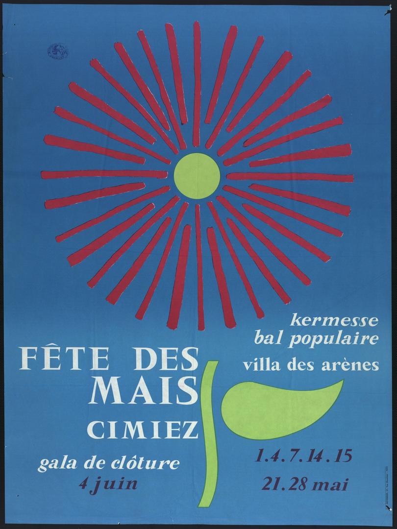 1967 : affiche officielle (Archives Nice Côte d'Azur, 7 Fi 1023)