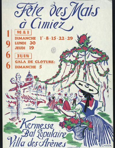 1966 : affiche officielle par Gustave Mossa (Archives Nice Côte d'Azur, 7 Fi 1024)