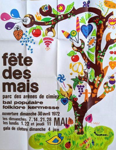 Affiche de Michèle Schefbal, élève à l'école municipale de dessin, sous la direction de Claire Aragon, 1972 (Archives Nice Côte d'Azur, 41 S 82)