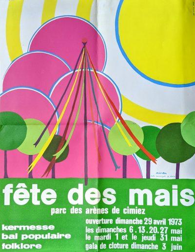 Affiche de Michelle Roux, élève à l'école municipale de dessin, 1973 (Archives Nice Côte d'Azur, 41 S 83)