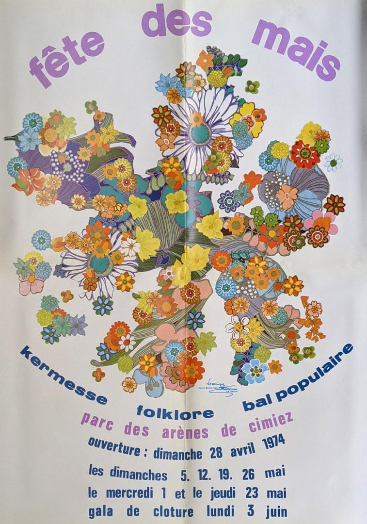 Affiche officielle des Mais, 1974 (Archives Nice Côte d'Azur, 41 S 84)