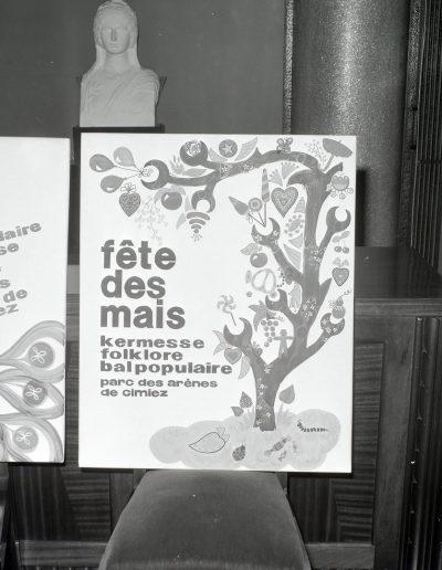 1972 : l'affiche lauréate du concours. Photo Ville de Nice, Archives Nice Côte d'Azur, 860 W 1972