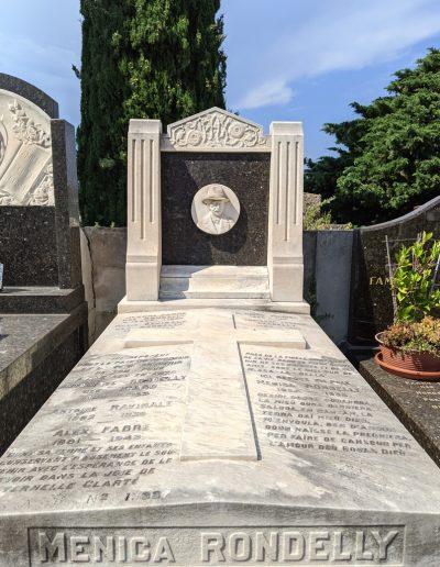 Tombe de Menica Rondelly au cimetière du Château, 1935. Cliché Ville de Nice, Éric Bertino, 2020