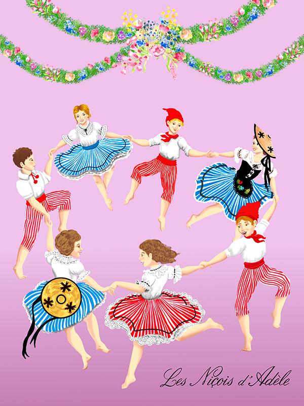 « Farandole » créé par l'association les Nicois D'Adèle